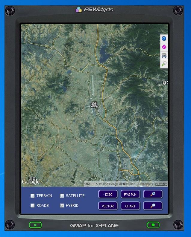 14/11/13更新)グーグルマップを見ながらX-Planeを飛ぶ